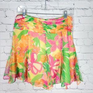 NWT Lilly Pulitzer silk flirty skirt 6